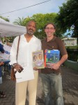 Authors Tregenza A. Roach and Mario Picayo with their creations: The Lesson Box and our best-selling title A Caribbean Journey from A to Y (Read and discover what happened to the Z).
