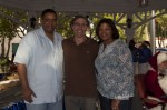Mario, editor of the Virgin Island Special Editions project with Governor de Jongh and First Lady Cecile de Jongh