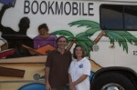 Mario with Annette, the Bookmobile's librarian, who loves all of our children titles.