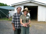 Mario Picayo with Kathy Stevens, Founder of the Catskill Animal Sanctuary