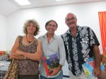 Polly Patullo of Papillotte Press, Mario Picayo, and historian Lennox Honeychurch