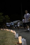 Participants and conmemorative candles at the Relay for Life 2012 event, St Thomas, U.S. Virgin Islands