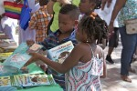 Children pick their favorties books to take home at the 2012 Summer Reading Challenge event, St John, U.S. Virgin Islands