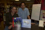 Mario and Rafael pose with their books, which are both available at Undercover Books