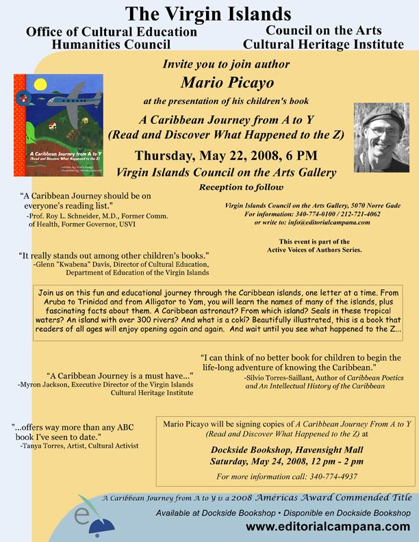 Mario Presents at Cultural Center, St. Thomas