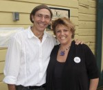Tina Gagliardy, A Very Smart Cat fan, and owner of Mahalo (an amazing store in Catskill, NY) with author Mario Picayo