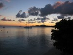 A beautiful sunset on Vieques, Puerto Rico