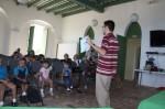 Author Rafael Landron's presentation of Beba and Little Sister Island at Fuerte Conde de Mirasol in Vieques, Puerto Rico.