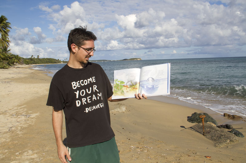 Rafael visits a local beach. After 60 years of U.S. Navy occupation, many beaches still remain closed due to unsafe conditions