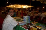 Rafael Landrón at the Vieques Crafts and Books Fair, March 19, 2011.