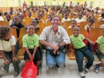 Everybody smiles for the camera at the Pearl B. Larsen elementary School, St Croix.