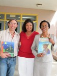 Mrs. Cecile de Jongh, First Lady of the U.S. Virgin Islands, creator and engine behind the Book-Giving initiative with the 2008 and 2009 selected authors and their books. Mario Picayo and Alscess-Lewis-Brown