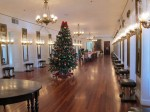 Beautiful and historical Government House, St Croix, decorated for the holidays