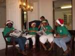 "The great team of ""elves"" that make Santa Claus' job so much easier resting after a long day"